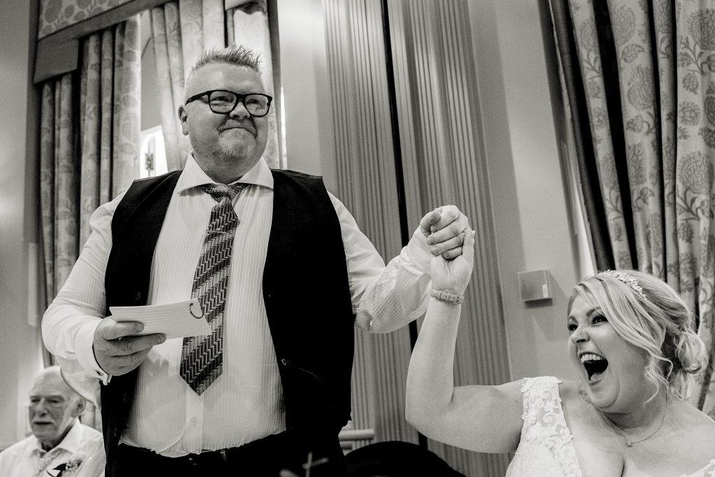 Photo of Wedding Couple by John Steel Photography