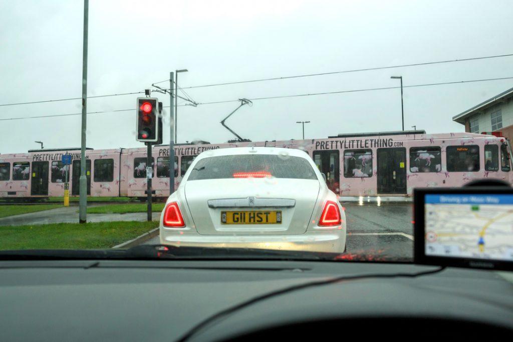 Rolls Royce on way to venue - Whiston Manorial Barn Wedding Photography,Rotherham  wedding photographer