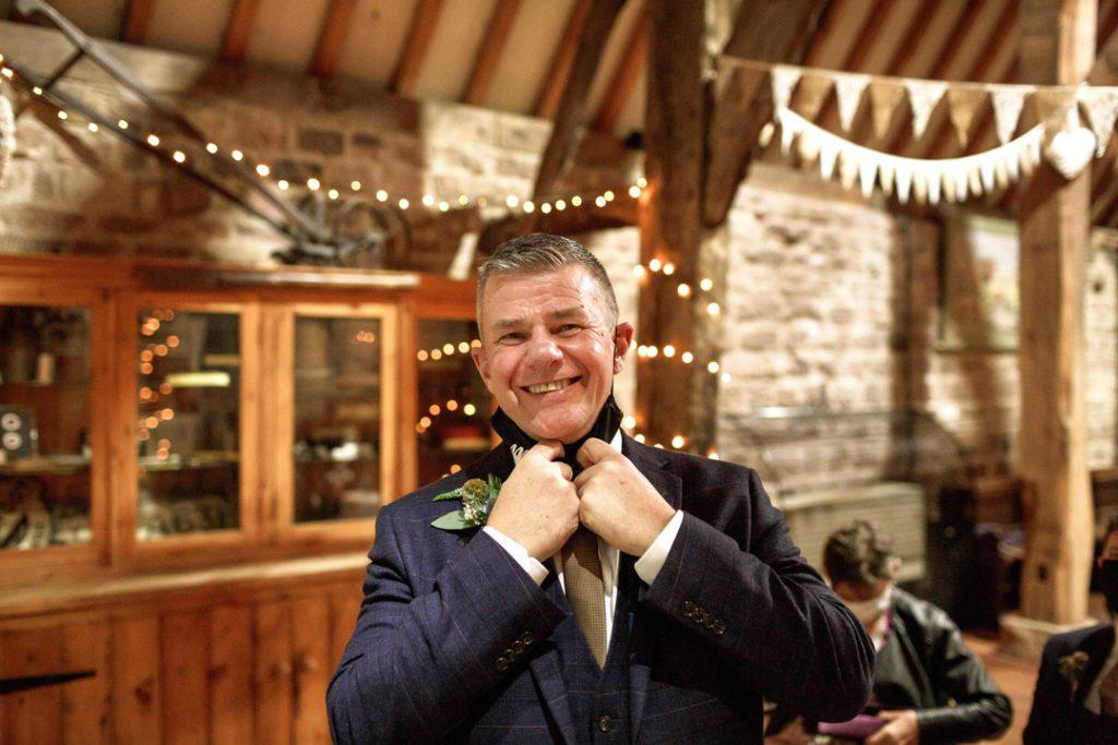 Groom before ceremony -Whiston Manorial Barn Wedding Photography,Rotherham  wedding photographer