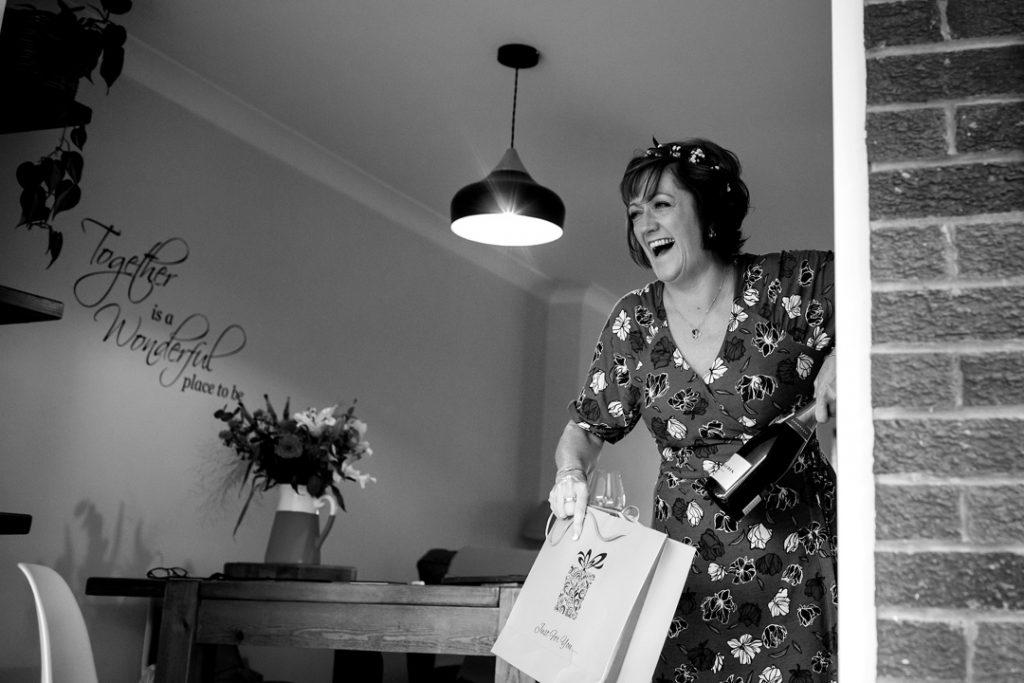 Happy bride - Whiston Manorial Barn Wedding Photography,Rotherham  wedding photographer