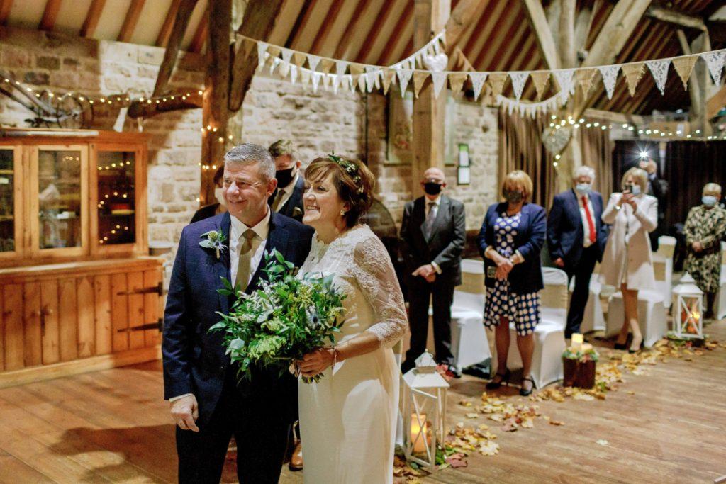 Bride and groom during ceremony - Whiston Manorial Barn Wedding Photography,Rotherham  wedding photographer