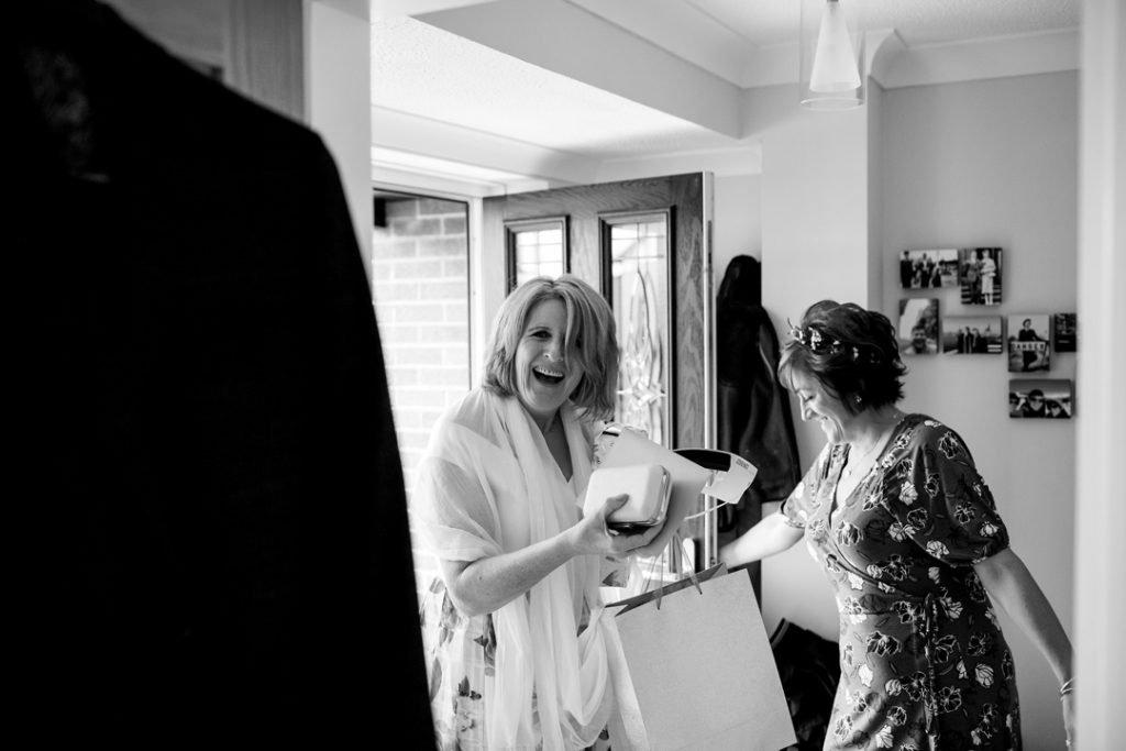 Brides best friend arriving for Amandas wedding - Whiston Manorial Barn Wedding Photography,Rotherham  wedding photographer