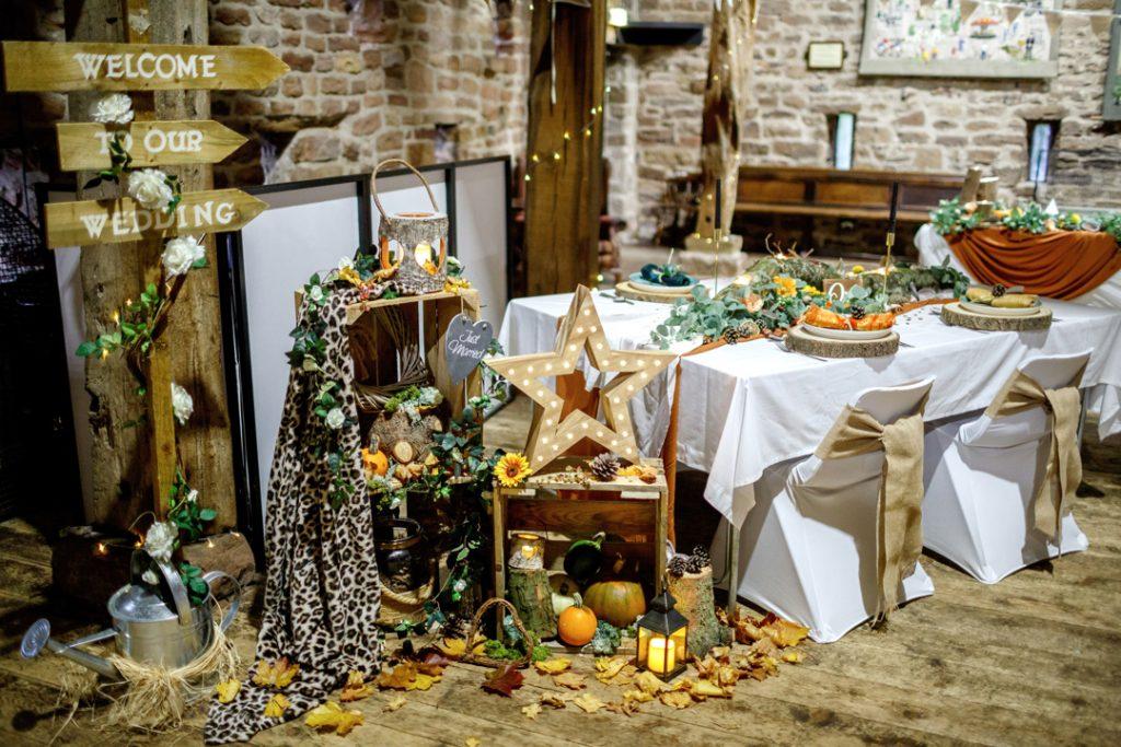 Autumnal styling - Whiston Manorial Barn Wedding Photography,Rotherham  wedding photographer