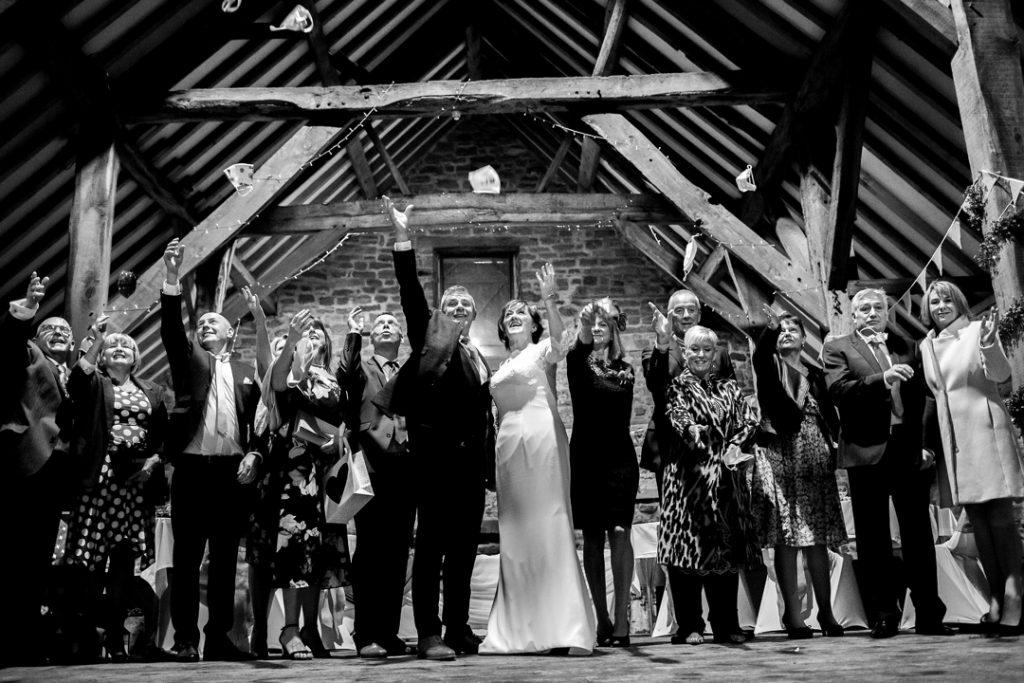 Throwing face masks - Whiston Manorial Barn Wedding Photography,Rotherham  wedding photographer