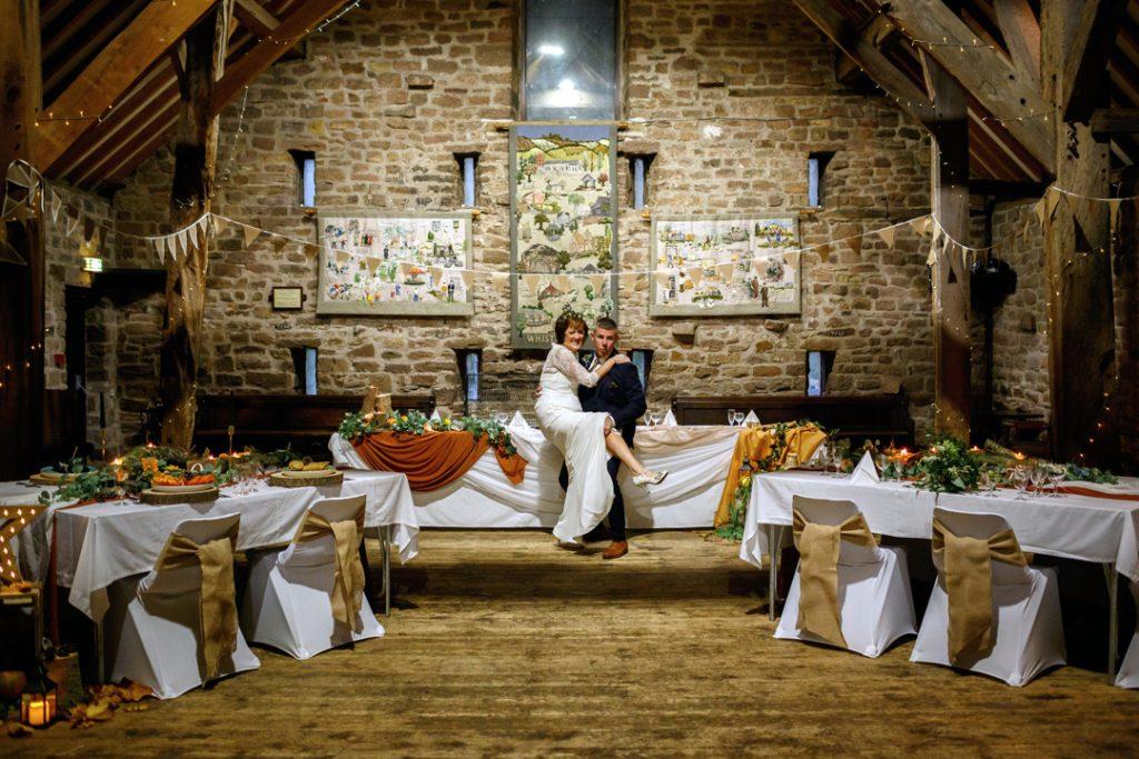 Bride and groom fun - Whiston Manorial Barn Wedding Photography,Rotherham  wedding photographer