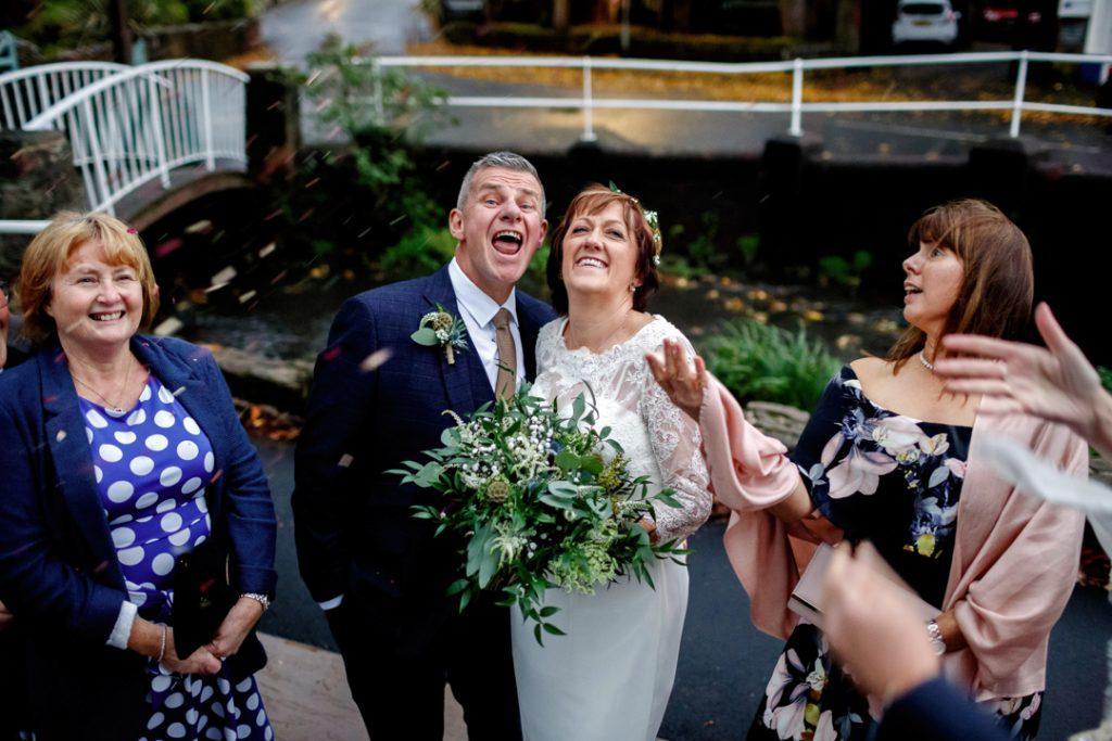confetti time - Whiston Manorial Barn Wedding Photography,Rotherham  wedding photographer