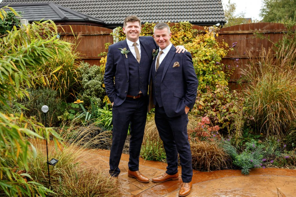 Groom and son before wedding -Whiston Manorial Barn Wedding Photography,Rotherham  wedding photographer