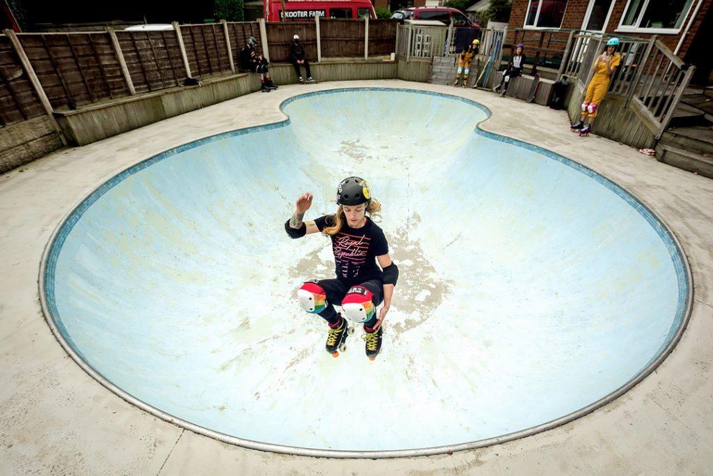 Be Good Skates YoYos bowl, John Steel PhotographyBe Good Skates, Huddersfield fitness photography, roller skating photography, West Yorkshire fitness photography, quad skates Huddersfield, secret skate spot, Roller Girl Gang, John Steel Photography